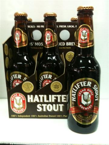 Grand Ridge Hatlifter Stout 4.9% Alc Vol