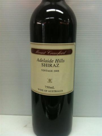 Mount Crawford Adelaide Hills Shiraz 2008 750ml