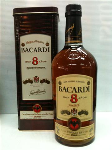 Bacardi 8 Ron Anos 700ML