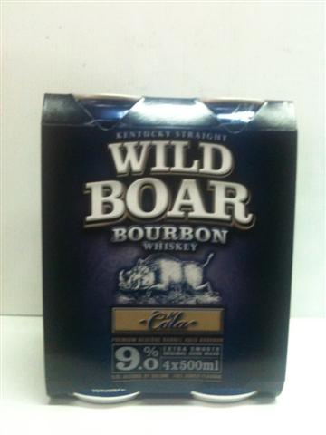 Wild Boar & Cola 4 x 500mlpack